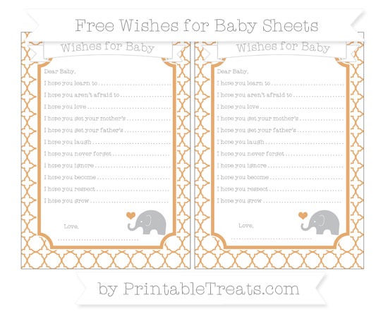 Free Fawn Quatrefoil Pattern Baby Elephant Wishes for Baby Sheets