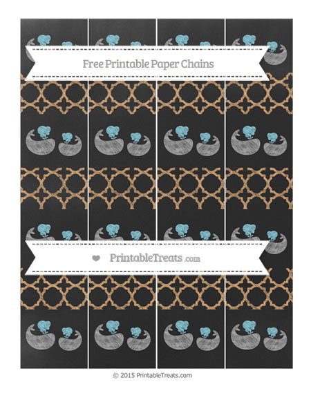 Free Fawn Quatrefoil Pattern Chalk Style Baby Whale Paper Chains