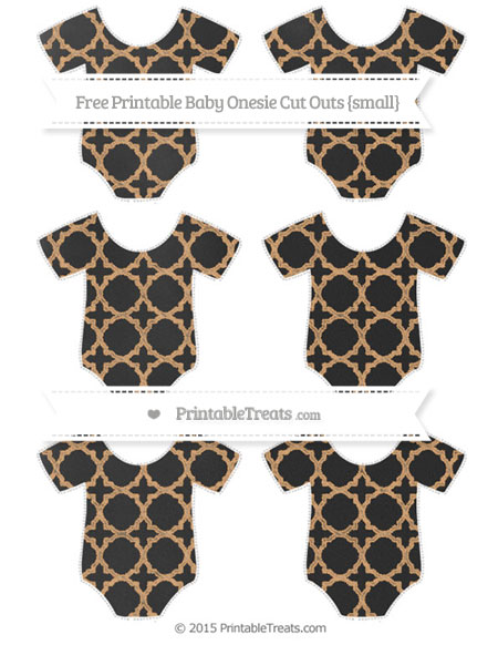 Free Fawn Quatrefoil Pattern Chalk Style Small Baby Onesie Cut Outs