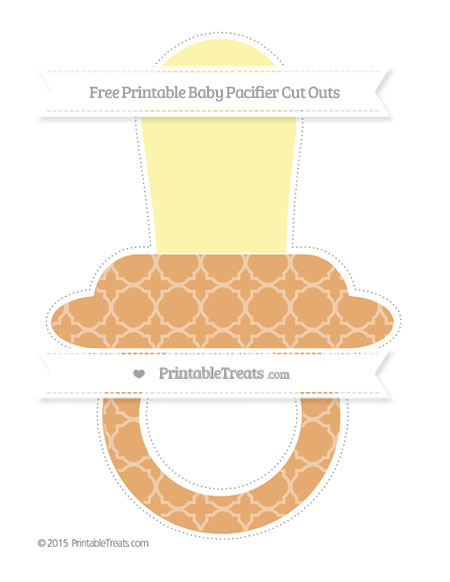 Free Fawn Quatrefoil Pattern Extra Large Baby Pacifier Cut Outs