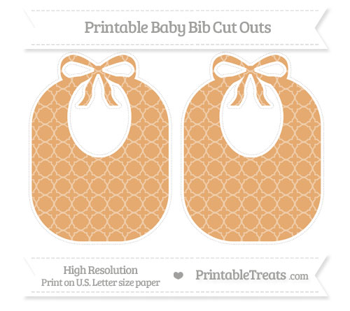 Free Fawn Quatrefoil Pattern Large Baby Bib Cut Outs