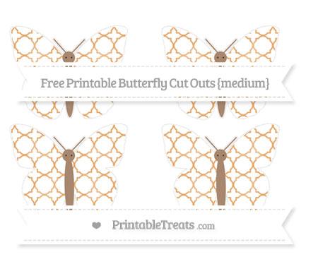Free Fawn Quatrefoil Pattern Medium Butterfly Cut Outs