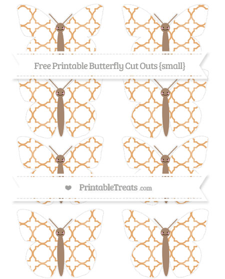 Free Fawn Quatrefoil Pattern Small Smiley Butterfly Cut Outs