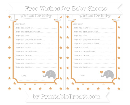 Free Fawn Star Pattern Baby Elephant Wishes for Baby Sheets