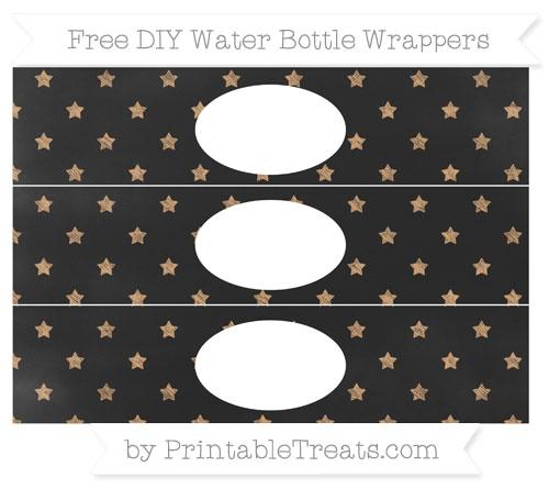 Free Fawn Star Pattern Chalk Style DIY Water Bottle Wrappers