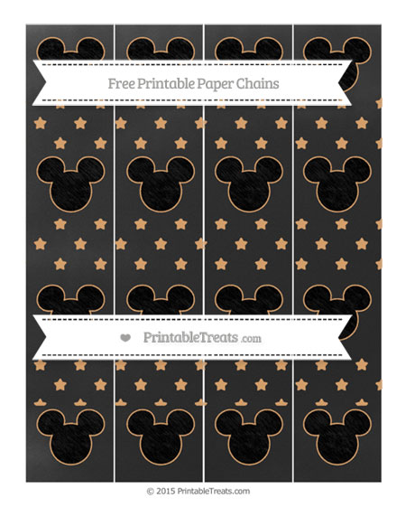 Free Fawn Star Pattern Chalk Style Mickey Mouse Paper Chains