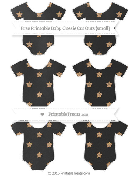Free Fawn Star Pattern Chalk Style Small Baby Onesie Cut Outs