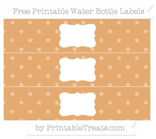 Free Fawn Star Pattern Water Bottle Labels