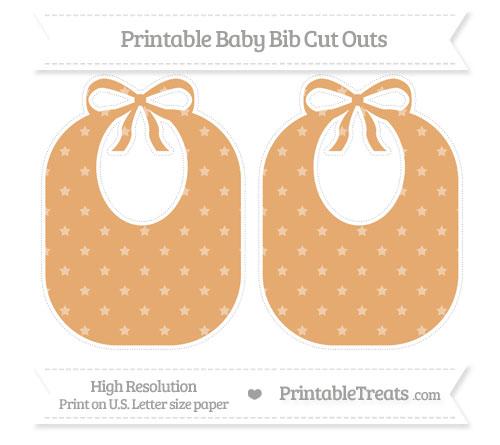 Free Fawn Star Pattern Large Baby Bib Cut Outs
