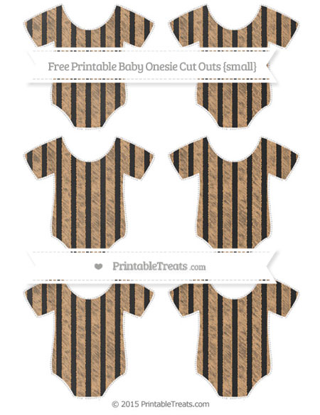 Free Fawn Striped Chalk Style Small Baby Onesie Cut Outs