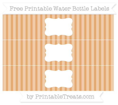 Free Fawn Striped Water Bottle Labels