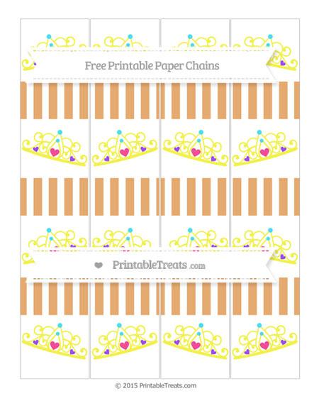 Free Fawn Striped Princess Tiara Paper Chains