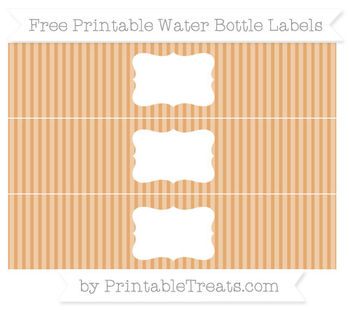 Free Fawn Thin Striped Pattern Water Bottle Labels