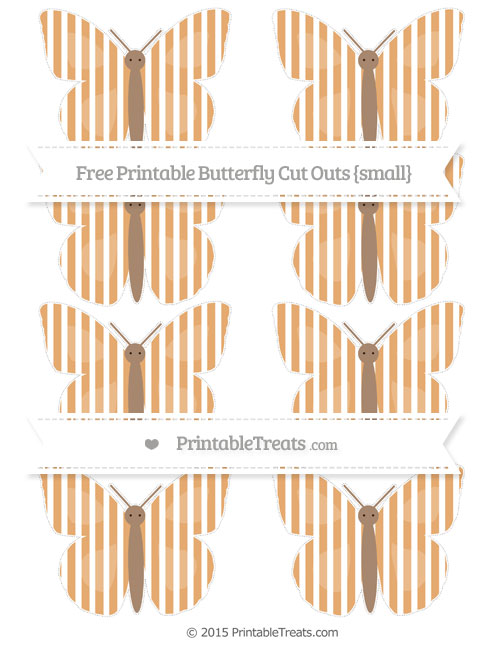 Free Fawn Thin Striped Pattern Small Butterfly Cut Outs