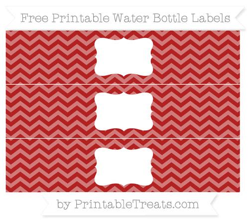 Free Fire Brick Red Chevron Water Bottle Labels