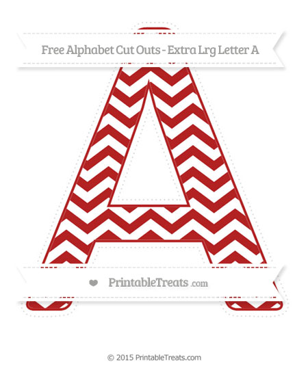 Free Fire Brick Red Chevron Extra Large Capital Letter A Cut Outs