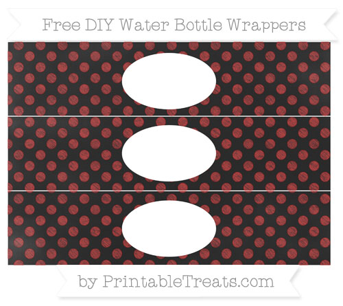 Free Fire Brick Red Dotted Pattern Chalk Style DIY Water Bottle Wrappers