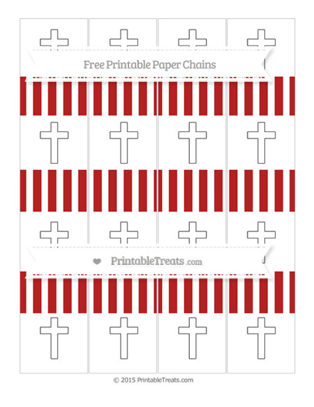 Free Fire Brick Red Striped Cross Paper Chains