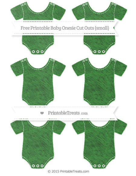 Free Forest Green Chalk Style Small Baby Onesie Cut Outs