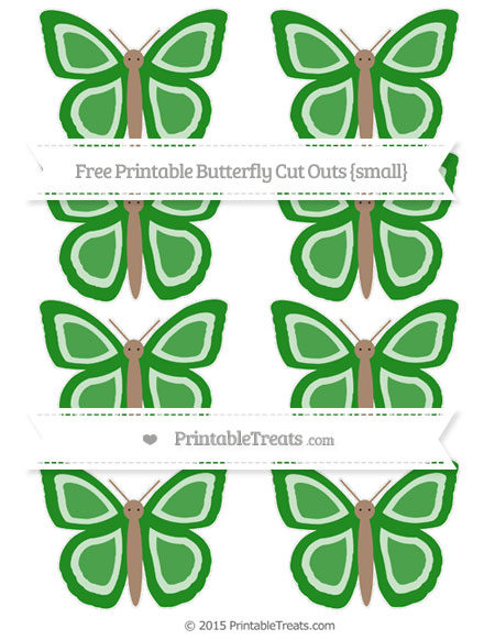 Free Forest Green Small Butterfly Cut Outs