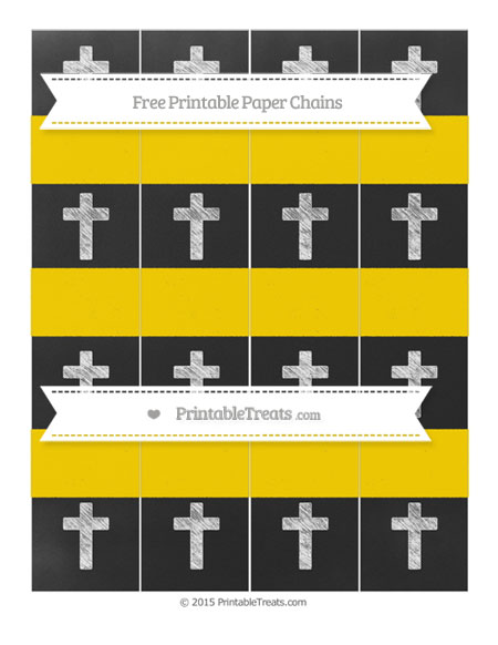 Free Gold Chalk Style Cross Paper Chains