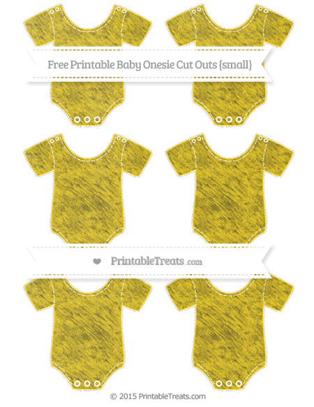 Free Gold Chalk Style Small Baby Onesie Cut Outs