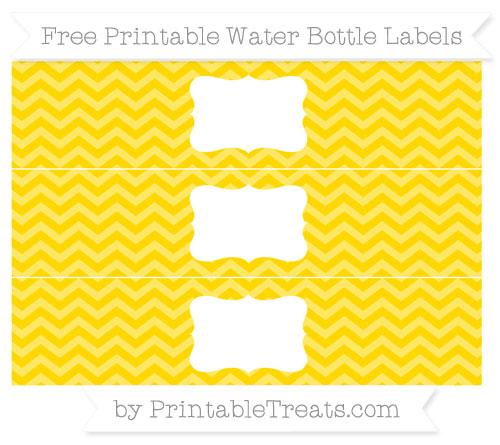 Free Gold Chevron Water Bottle Labels
