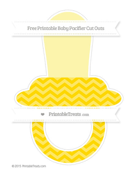 Free Gold Chevron Extra Large Baby Pacifier Cut Outs