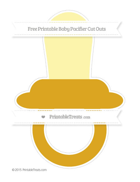 Free Gold Extra Large Baby Pacifier Cut Outs