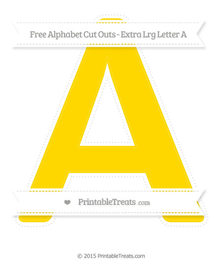 Free Gold Extra Large Capital Letter A Cut Outs