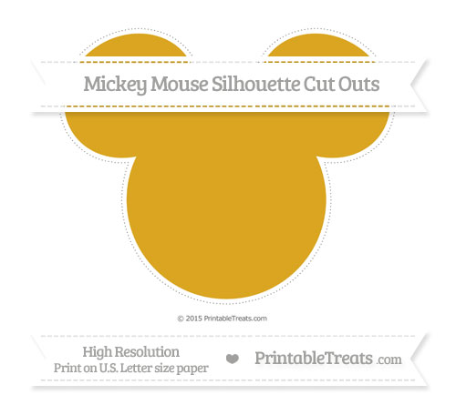 Free Gold Extra Large Mickey Mouse Silhouette Cut Outs