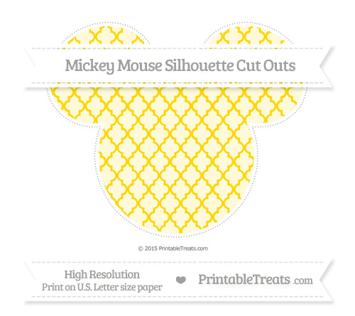 Free Gold Moroccan Tile Extra Large Mickey Mouse Silhouette Cut Outs