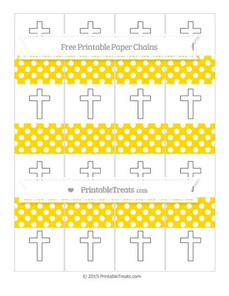 Free Gold Polka Dot Cross Paper Chains