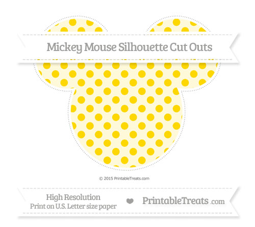 Free Gold Polka Dot Extra Large Mickey Mouse Silhouette Cut Outs