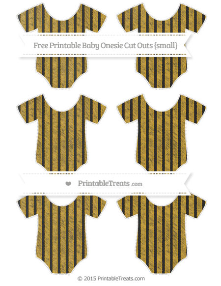 Free Gold Thin Striped Pattern Chalk Style Small Baby Onesie Cut Outs