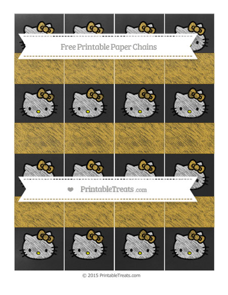 Free Goldenrod Chalk Style Hello Kitty Paper Chains