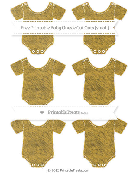 Free Goldenrod Chalk Style Small Baby Onesie Cut Outs