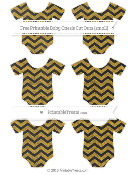 Free Goldenrod Chevron Chalk Style Small Baby Onesie Cut Outs
