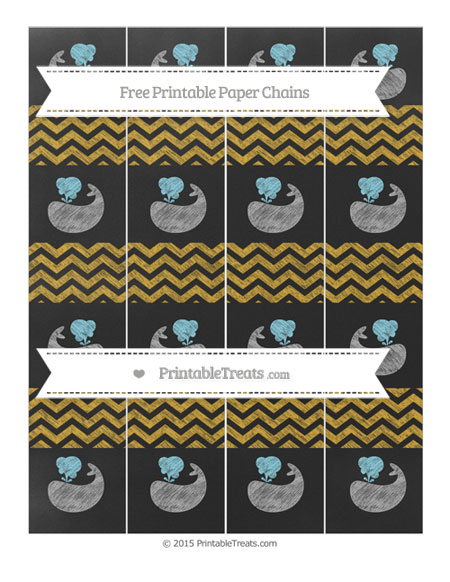 Free Goldenrod Chevron Chalk Style Whale Paper Chains