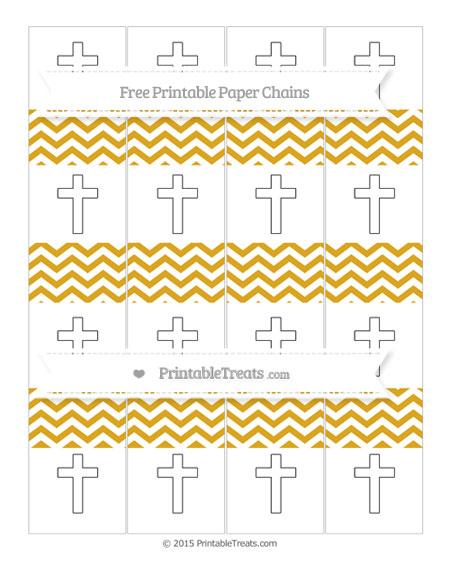 Free Goldenrod Chevron Cross Paper Chains