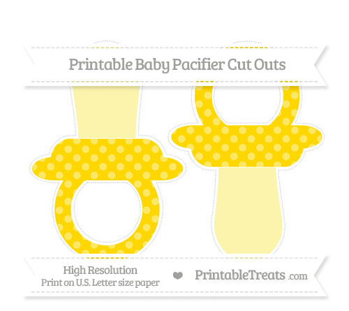 Free Goldenrod Dotted Pattern Large Baby Pacifier Cut Outs