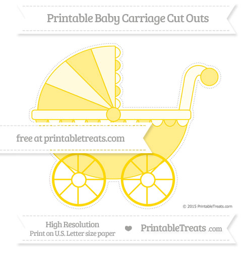 Free Goldenrod Extra Large Baby Carriage Cut Outs