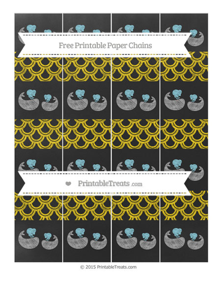 Free Goldenrod Fish Scale Pattern Chalk Style Baby Whale Paper Chains