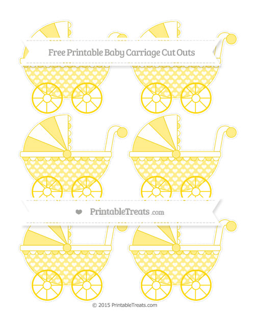 Free Goldenrod Heart Pattern Small Baby Carriage Cut Outs