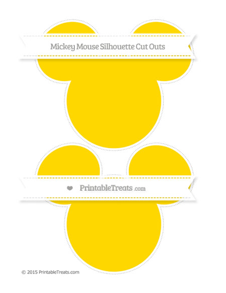 Free Goldenrod Large Mickey Mouse Silhouette Cut Outs