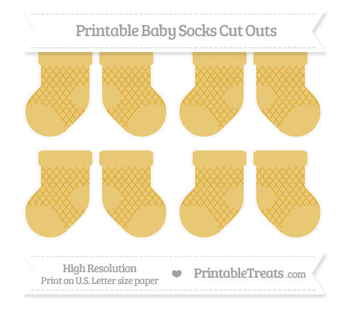 Free Goldenrod Moroccan Tile Small Baby Socks Cut Outs