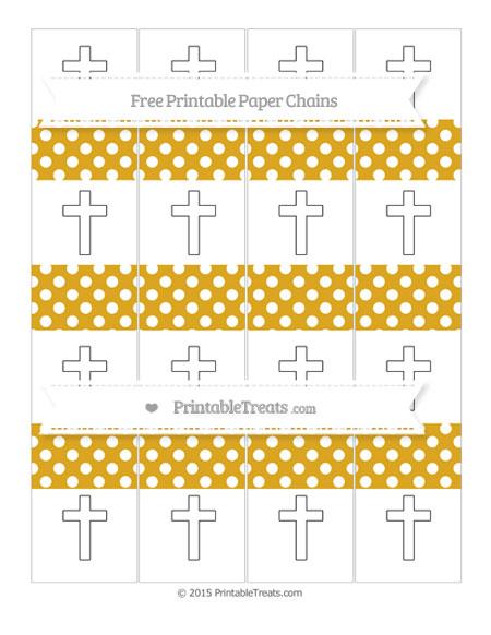 Free Goldenrod Polka Dot Cross Paper Chains