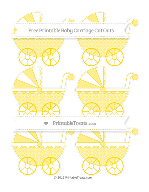 Free Goldenrod Quatrefoil Pattern Small Baby Carriage Cut Outs