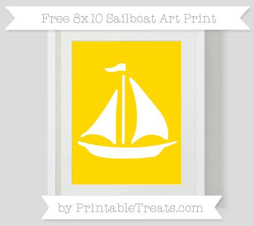 Free Goldenrod Sailboat 8x10 Art Print