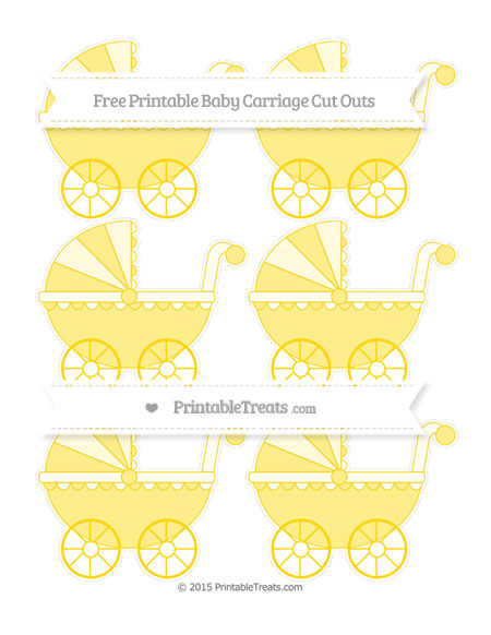 Free Goldenrod Small Baby Carriage Cut Outs